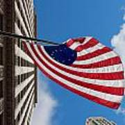 Betsy Ross Flag In Chicago Print by Semmick Photo