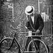 Bicycle Radio Antenna, 1914 Print by
