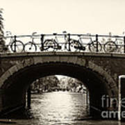 Bicycles Of Amsterdam Print by Leslie Leda
