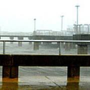 Big Dock Tropical Storm Print by Sheri McLeroy