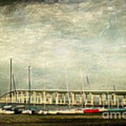 Biloxi Bay Bridge Print by Joan McCool