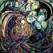 Bird And Flowers Print by YoMamaBird Rhonda