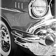 Black And White 1957 Chevy Print by Steve McKinzie