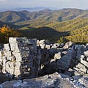 Black Rock Mountain Shenandoah National Park Print by Pierre Leclerc Photography