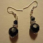 Black Sparkle Drop Earrings Print by Jenna Green