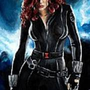 Black Widow Print by Tom Carlton