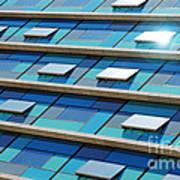 Blue Facade Print by Carlos Caetano