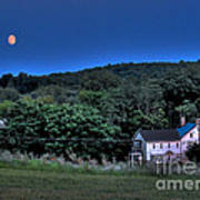 Blue Moon Print by Guy Harnett