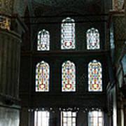 Blue Mosque Prayers Print by Leslie Leda