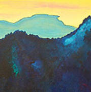 Blue Mountain Print by Silvie Kendall