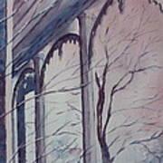Blue Snow Print by Patsy Sharpe