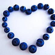 Blueberry Heart Print by Julia Wilcox