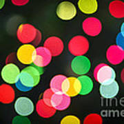 Blurred Christmas Lights Print by Elena Elisseeva
