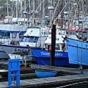 Boats Docked In Harbor Print by Jeff Lowe