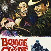 Bonnie And Clyde, Faye Dunaway, Warren Print by Everett