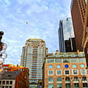 Boston Downtown Print by Elena Elisseeva
