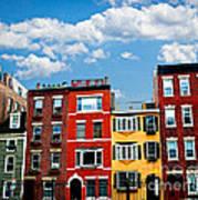 Boston Houses Print by Elena Elisseeva