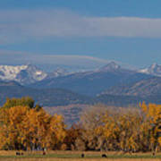 Boulder County Colorado Continental Divide Autumn View Print by James BO  Insogna