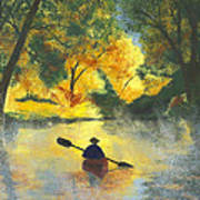 Bourbeuse River Sunrise Print by Garry McMichael