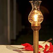 Brass Candle Romance Print by Kantilal Patel