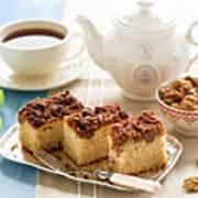 Breakfast With Nut Cake Print by Verdina Anna