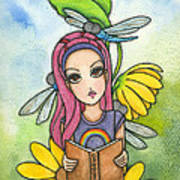 Brianna's Dragonflies Print by Nora Blansett