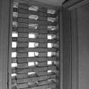 Bricks In The Window Print by Anna Villarreal Garbis