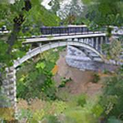 Bridge At Lake Park Print by Geoff Strehlow