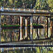 Bridge Over Ovens River 2 Print by Kaye Menner