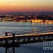 Bridge Over Tagus Print by Carlos Caetano