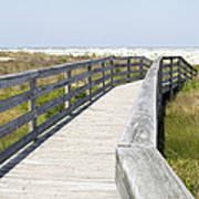 Bridge To The Beach Print by Glennis Siverson