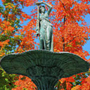 Broadway Fountain I Print by Steven Ainsworth