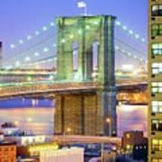 Brooklyn Bridge Print by Tony Shi Photography