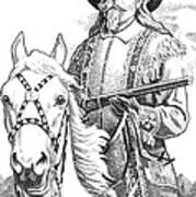 Buffalo-bill-cody Print by Gordon Punt