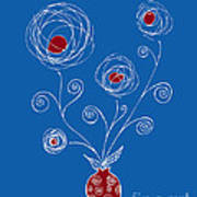 Bulb Flower Print by Frank Tschakert