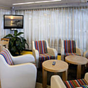 Business Lounge At An Airport Print by Jaak Nilson