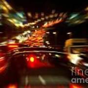 Busy Highway Print by Carlos Caetano