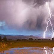 C2g Lightning Bolts Striking Longs Peak Foothills 6 Print by James BO  Insogna