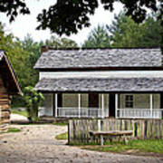 Cable Mill Home Place Cades Cove Print by Mike Aldridge