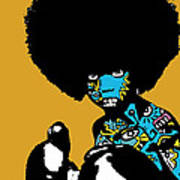 Call Of The Child Full Color Print by Kamoni Khem