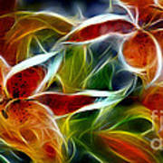 Candy Lily Fractal  Print by Peter Piatt