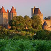 Carcassonne Dawn Print by Brian Jannsen