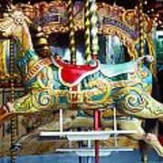 Carrouse Horse Paris France Print by Garry Gay