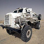 Casper Armored Vehicle Sits Print by Terry Moore