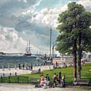 Castle Garden, New York, Showing Print by Everett