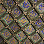Ceiling Tiles In The Forbidden City Print by Sam Bloomberg-rissman