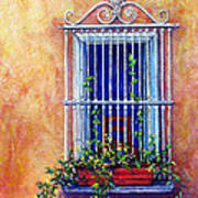 Chair In The Window Print by Tanja Ware