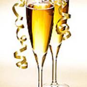Champagne Glasses Print by Elena Elisseeva