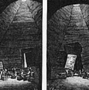 Champagne Production, 19th Century Print by Cci Archives