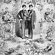 Chang And Eng Bunker, The Original Print by Science Source